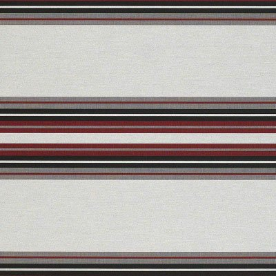 Sunbrella Burgundy / Black / White 4798 Fabric