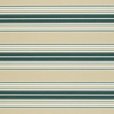 Sunbrella Forest / Beige / Fancy Stripe 4932 Fabric